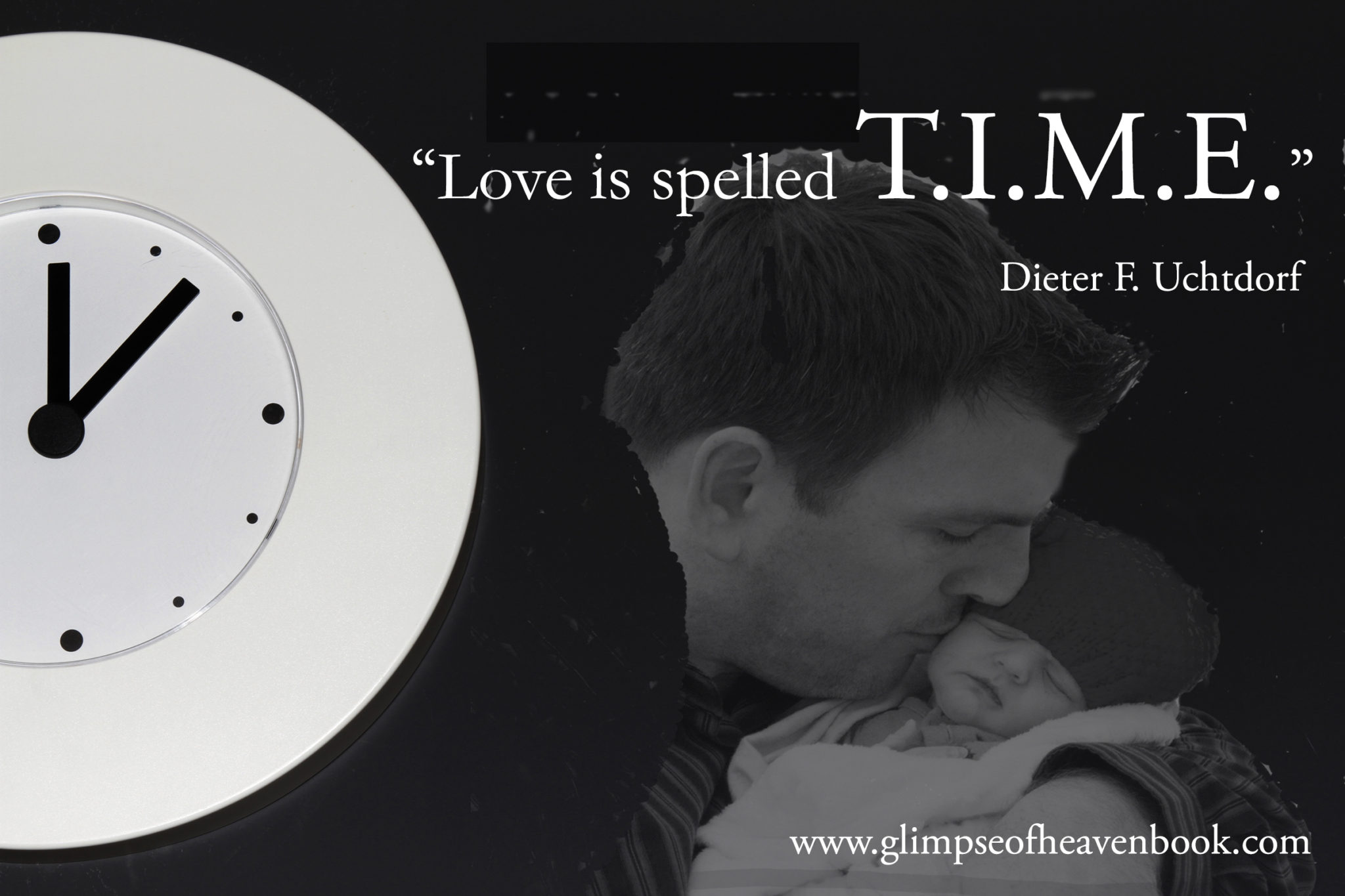 Love is spelled time clock-1140671