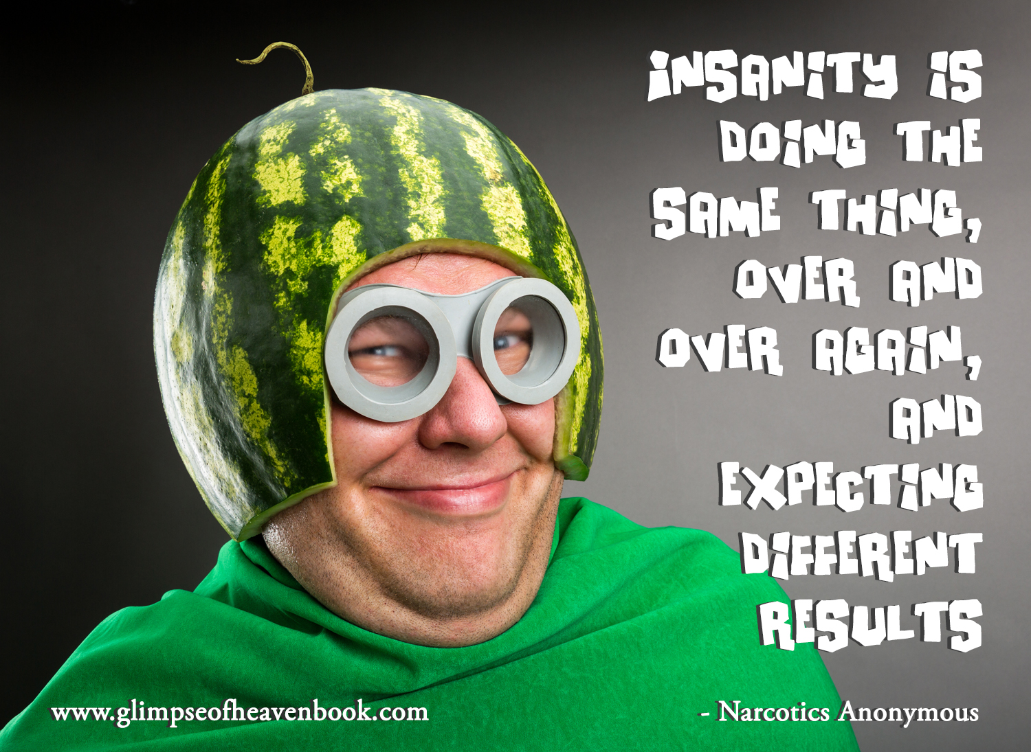 Insanity watermelon man shutterstock_157354478