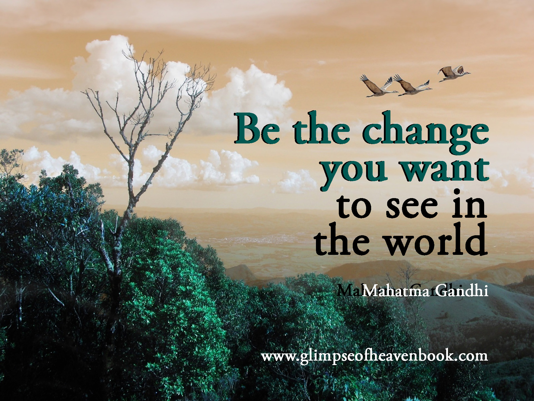 how to be the change you My message to the world is to practice what you preachthe reason it's of vital importance to do so isn't just because it makes you more authentic, it's because you can't change the world if you .