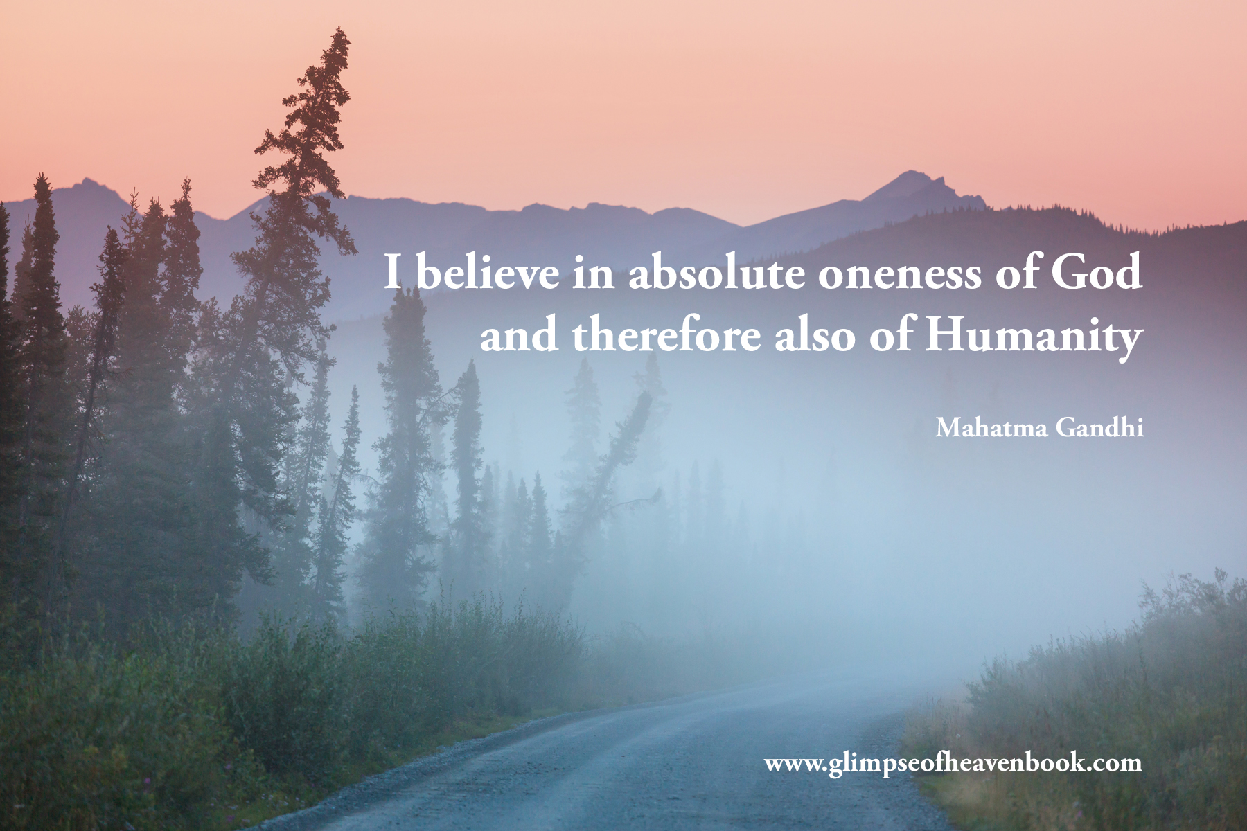 I believe in the absolute oneness of God and therefore also of humanity. Mahatma Gandhi