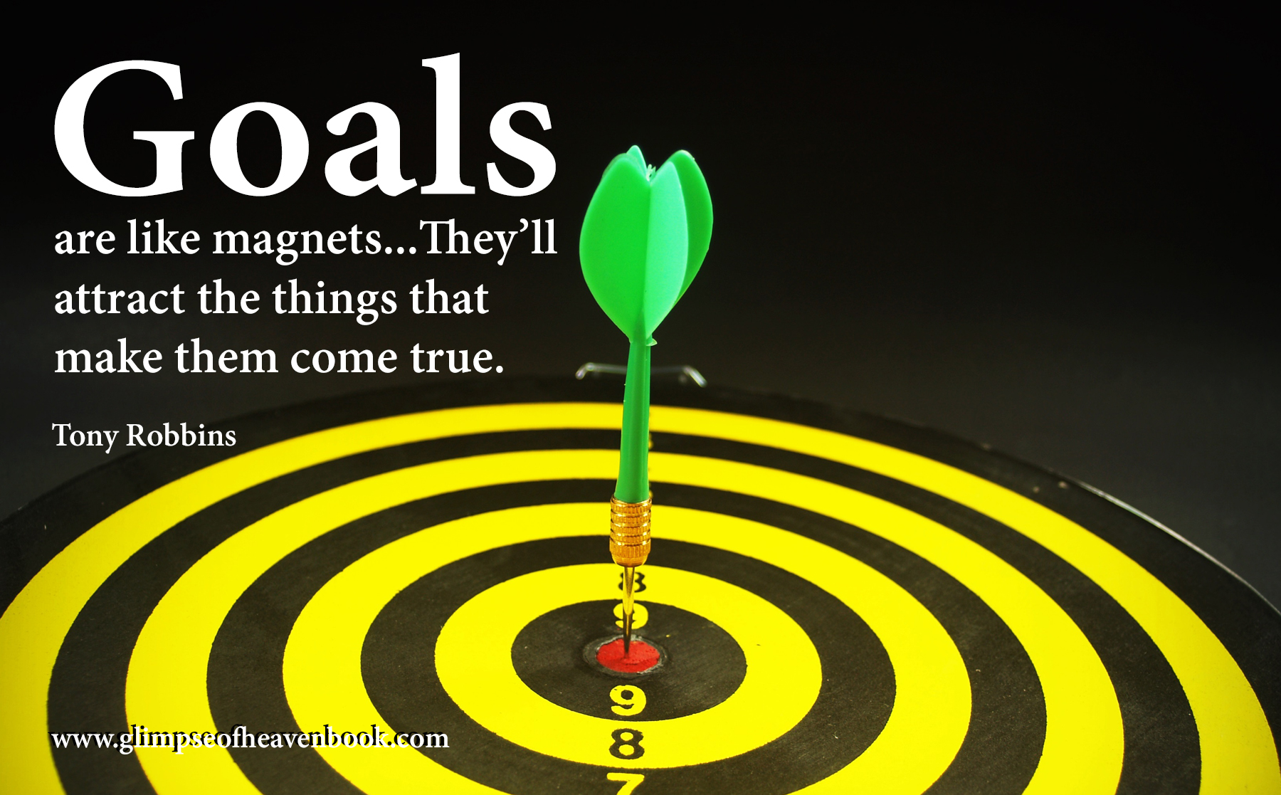 Goals are like magnets...They'll attract the things that make them come true. Tony Robbins